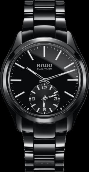 Herrenuhr Rado HyperChrome XL Quarz Dual Time mit schwarzem Zifferblatt und Keramikarmband