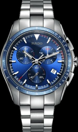 Herrenuhr Rado HyperChrome XXL Chronograph Quarz mit blauem Zifferblatt und Edelstahlarmband