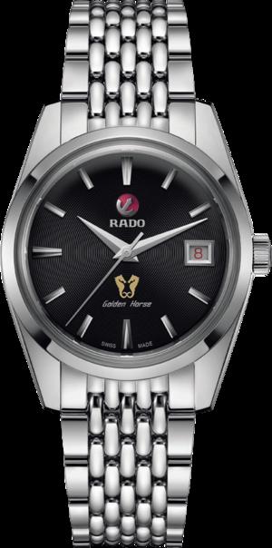 Herrenuhr Rado Tradition Golden Horse Automatik Limited Edition 37mm mit schwarzem Zifferblatt und Edelstahlarmband