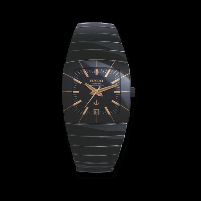 Herrenuhr Rado Sintra XXL Automatik mit schwarzem Zifferblatt und Keramikarmband