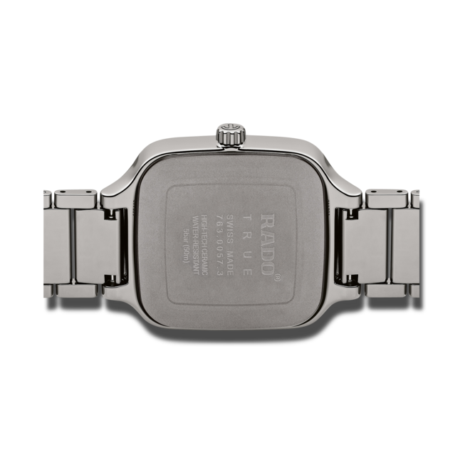 Herrenuhr Rado True Square Automatik mit grünem Zifferblatt und Keramikarmband bei Brogle