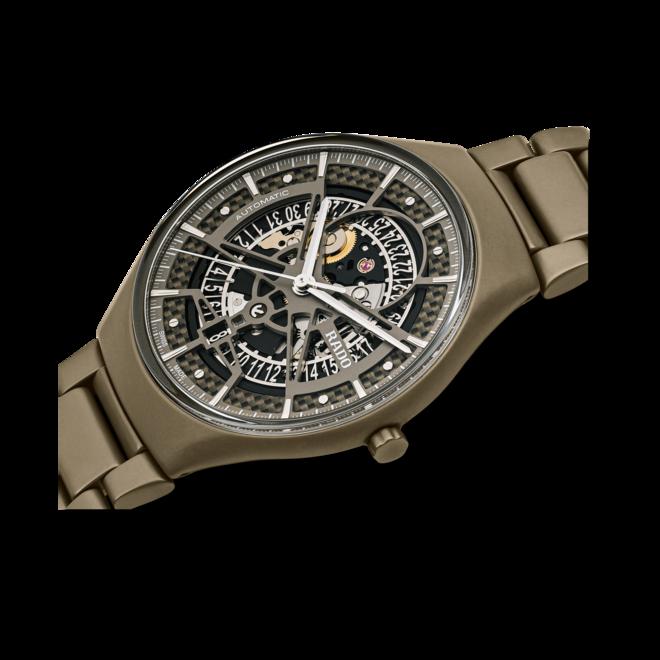 Armbanduhr Rado True Thinline Anima Limited Edition 40mm mit zweifarbigem Zifferblatt und Keramikarmband bei Brogle