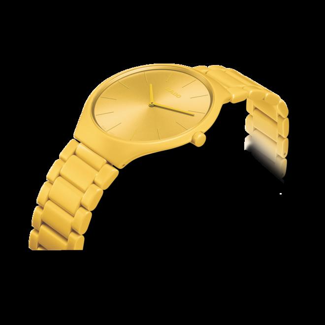Armbanduhr Rado True Thinline Les Couleurs Le Corbusier mit Keramikarmband bei Brogle