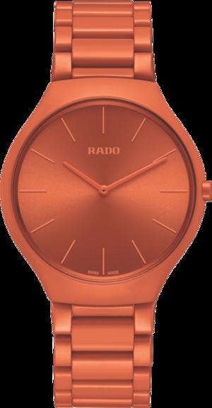 Armbanduhr Rado True Thinline Les Couleurs Le Corbusier mit Keramikarmband