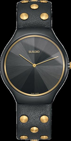 Herrenuhr Rado True Thinline Quarz 39mm mit grauem Zifferblatt