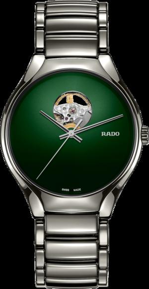 Armbanduhr Rado True Secret mit grünem Zifferblatt und Keramikarmband