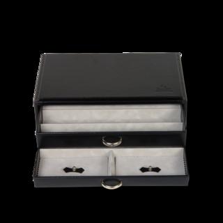 Sacher Schmuckkästchen Vario Perlenketten- & Ringbox - Schwarz 70028-26