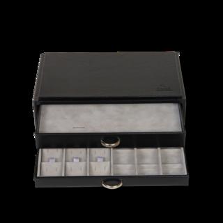 Sacher Schmuckkästchen Vario Ring- & Ohrsteckerbox - Schwarz 70028-25