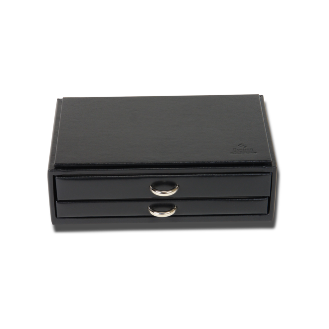 Sacher Schmuckkästchen Vario Schmucksetbox - Schwarz aus Kalbsleder bei Brogle