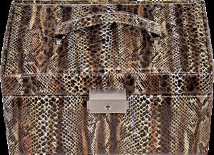 Sacher Schmuckkoffer Eva - Python aus Kunstleder