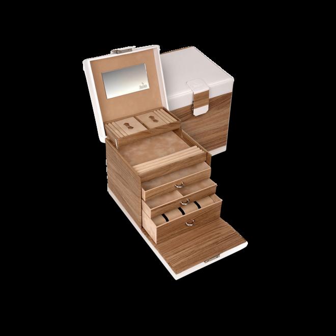 Sacher Schmuckkoffer Lisa - Beige/Weiß aus Kalbsleder bei Brogle