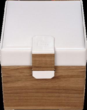 Sacher Schmuckkoffer Lisa - Beige/Weiß aus Kalbsleder