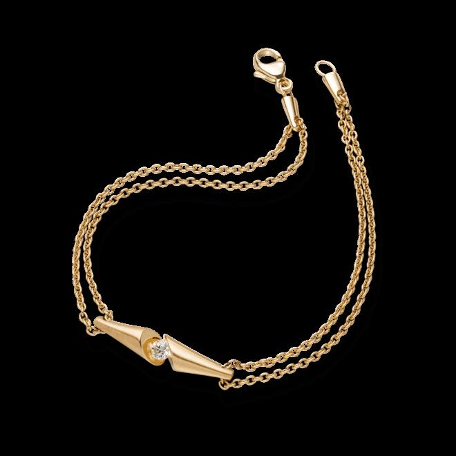 Armband Schaffrath Calla aus 750 Gelbgold mit 1 Brillant (0,09 Karat)
