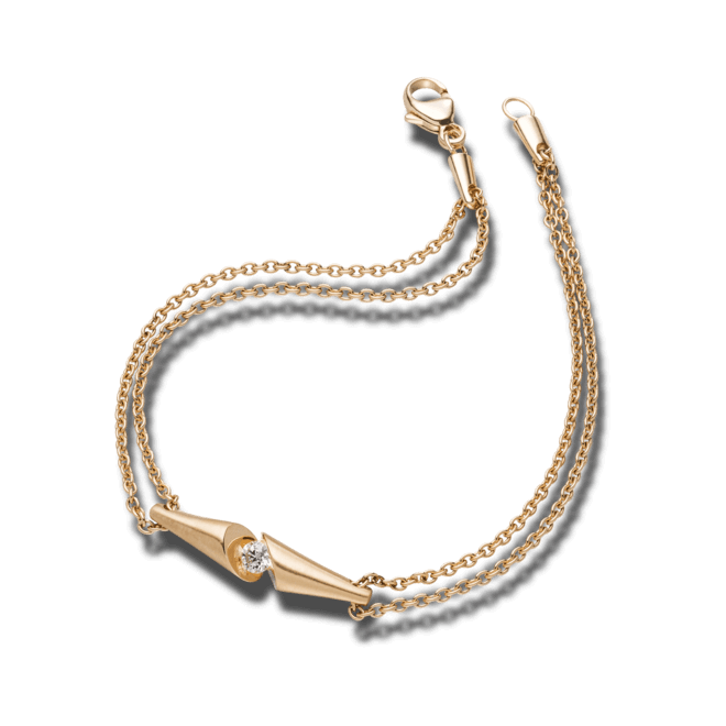 Armband Schaffrath Calla aus 750 Roségold mit 1 Brillant (0,09 Karat)