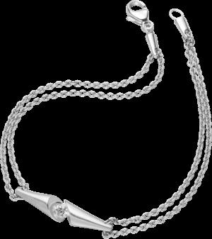 Armband Schaffrath Calla aus 750 Weißgold mit 1 Brillant (0,09 Karat)