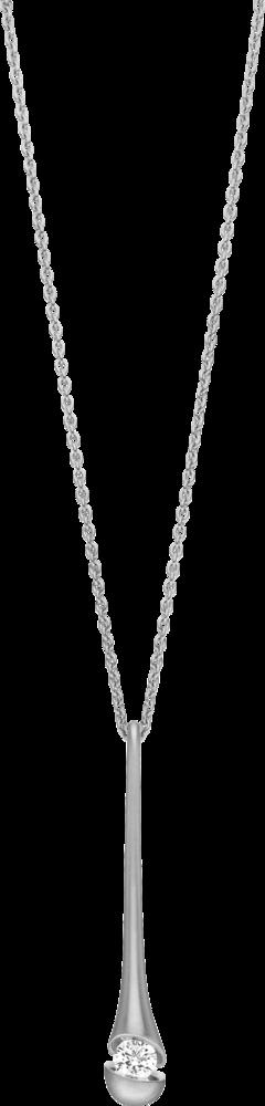 Halskette mit Anhänger Schaffrath Calla aus 750 Weißgold mit 1 Brillant (0,3 Karat)