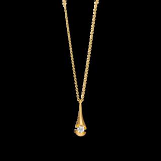 Schaffrath Halskette mit Anhänger Calla CALD3-C-GG-0.15GSI