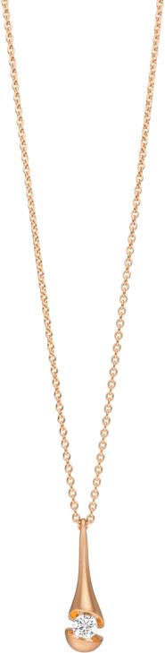 Halskette mit Anhänger Schaffrath Calla aus 750 Roségold mit 1 Brillant (0,15 Karat)