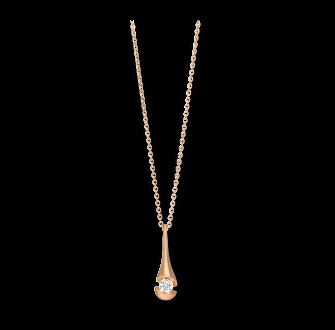 Halskette mit Anhänger Schaffrath Calla aus 750 Roségold mit 1 Brillant (0,15 Karat) bei Brogle
