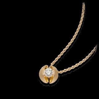 Schaffrath Halskette mit Anhänger Calla CALL2-C-GG-0.18GSI-42