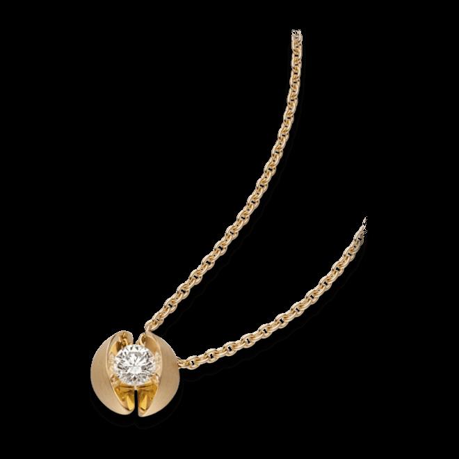 Halskette mit Anhänger Schaffrath Calla aus 750 Gelbgold mit 1 Brillant (0,19 Karat)