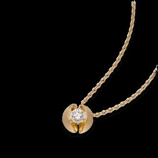 Schaffrath Halskette mit Anhänger Calla CALL2-C-GG-0.25GSI-42