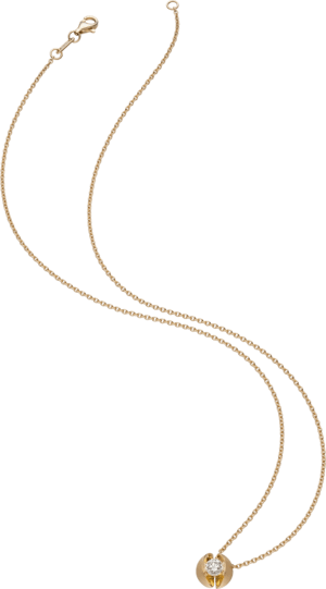 Halskette mit Anhänger Schaffrath Calla aus 750 Gelbgold mit 1 Brillant (0,3 Karat)