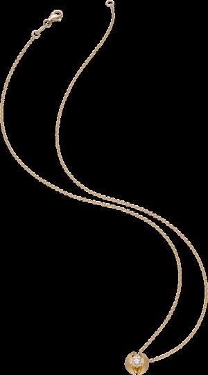 Halskette mit Anhänger Schaffrath Calla aus 750 Gelbgold mit 1 Brillant (0,7 Karat)