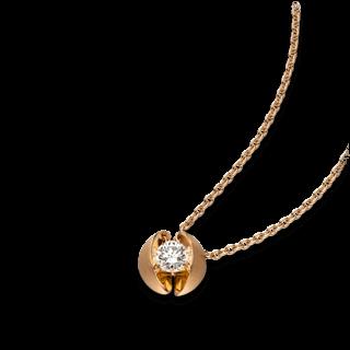 Schaffrath Halskette mit Anhänger Calla CALL2-C-RG-0.18GSI-42