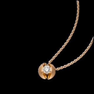 Schaffrath Halskette mit Anhänger Calla CALL2-C-RG-0.25GSI-42