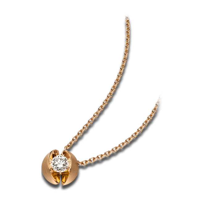 Halskette mit Anhänger Schaffrath Calla aus 750 Roségold mit 1 Brillant (0,3 Karat)