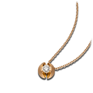 Schaffrath Halskette mit Anhänger Calla CALL2-C-RG-0.30GSI-42