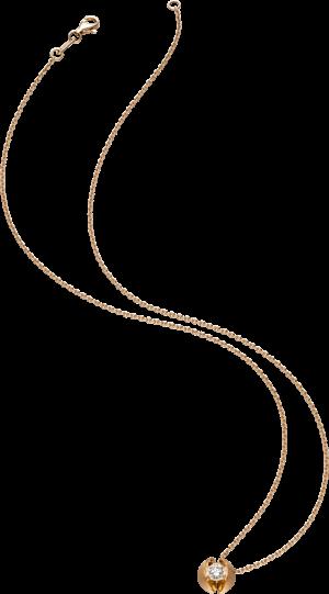 Halskette mit Anhänger Schaffrath Calla aus 750 Roségold mit 1 Brillant (0,5 Karat)