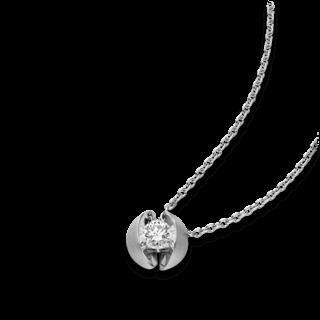 Schaffrath Halskette mit Anhänger Calla CALL2-C-WG-0.18GSI-42
