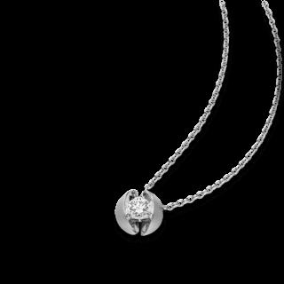 Schaffrath Halskette mit Anhänger Calla CALL2-C-WG-0.30GSI-42
