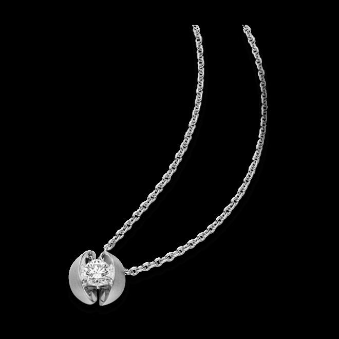 Halskette mit Anhänger Schaffrath Calla aus 750 Weißgold mit 1 Brillant (0,7 Karat)