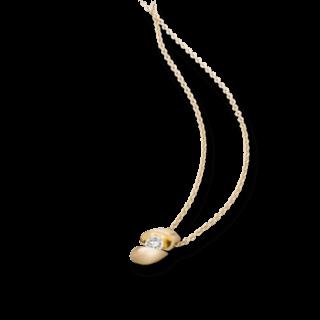 Schaffrath Halskette mit Anhänger Calla CALLA-C-GG-0.10GSI-42
