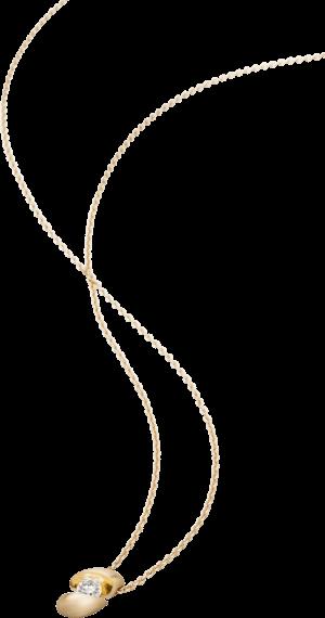 Halskette mit Anhänger Schaffrath Calla aus 750 Gelbgold mit 1 Brillant (0,18 Karat)