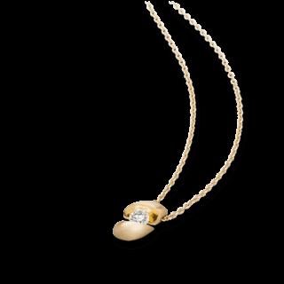Schaffrath Halskette mit Anhänger Calla CALLA-C-GG-0.30GSI-42