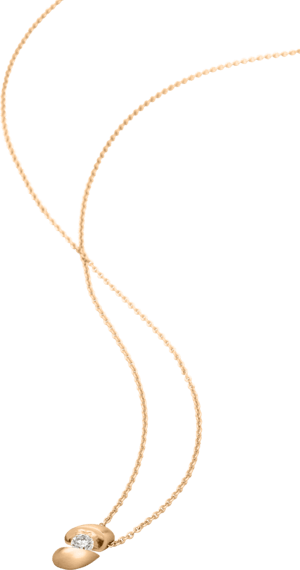 Halskette mit Anhänger Schaffrath Calla aus 750 Roségold mit 1 Brillant (0,18 Karat)