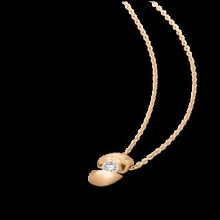 Schaffrath Halskette mit Anhänger Calla CALLA-C-RG-0.18GSI-42