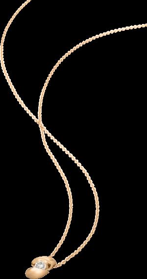 Halskette mit Anhänger Schaffrath Calla aus 750 Roségold mit 1 Brillant (0,7 Karat)