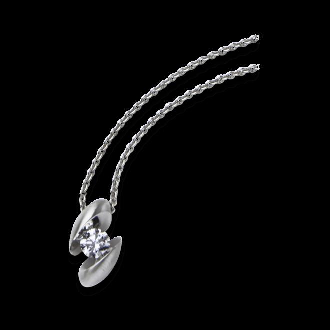 Halskette mit Anhänger Schaffrath Calla aus 750 Weißgold mit 1 Brillant (0,19 Karat)