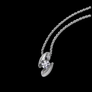 Schaffrath Halskette mit Anhänger Calla CALLA-C-WG-0.30GSI-42