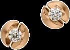 Ohrstecker Schaffrath Calla aus 750 Roségold mit 2 Brillanten (2 x 0,23 Karat)