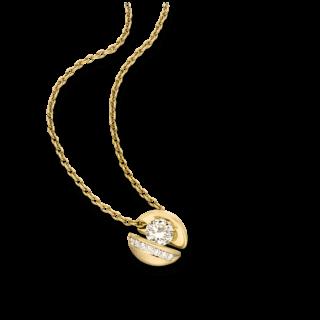"""Schaffrath Halskette mit Anhänger Calla """"Onefold"""" CALLY-C-GG-0.30GSI-42"""