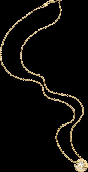 """Halskette mit Anhänger Schaffrath Calla """"Onefold"""" aus 750 Gelbgold mit 8 Brillanten (0,56 Karat)"""