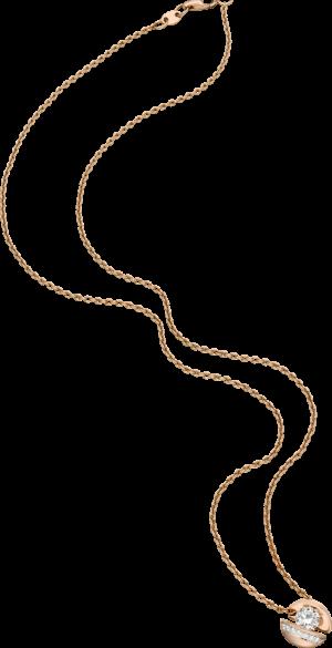 """Halskette mit Anhänger Schaffrath Calla """"Onefold"""" aus 750 Roségold mit 8 Brillanten (0,45 Karat)"""