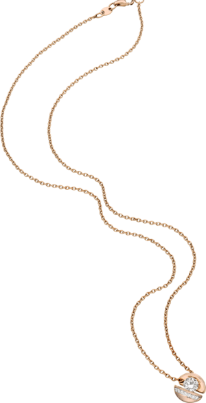 """Halskette mit Anhänger Schaffrath Calla """"Onefold"""" aus 750 Roségold mit 8 Brillanten (0,56 Karat)"""