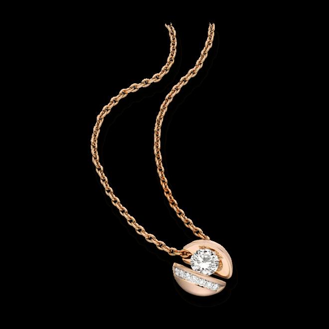 """Halskette mit Anhänger Schaffrath Calla """"Onefold"""" aus 750 Roségold mit 8 Brillanten (0,77 Karat)"""